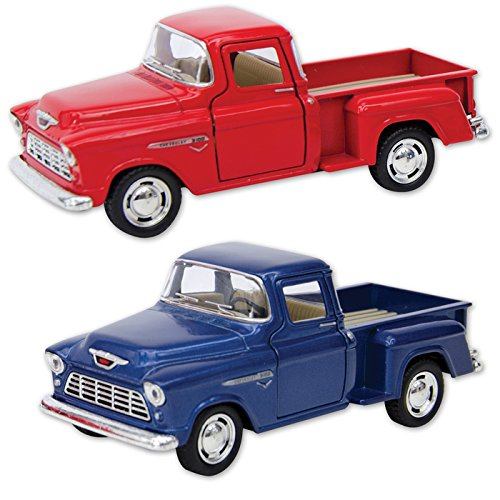 1955 Chevy Stepside Pick-Ups - Only one included - Die Cast - Available in Red or Blue - 1