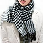Men Scarf Stole Shawl Wrap Houndstoot...
