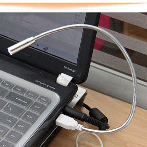 DAYAN Tragbare Mini-USB-LED USB Lampe Winkel verstellbar Lampe für PC Notizbuch-Laptop