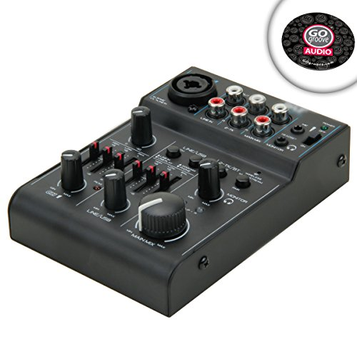 Buy Premium 3-Channel Bluetooth Podcast Studio Mixer with XLR Microphone Input and RCA Input / Output Connectors – Perfect for Home and Studio Podcast Setups **Includes Mouse Pad**