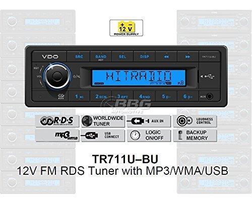 VDO-12-Volt-PKW-Auto-Radio-RDS-Tuner-MP3-WMA-USB-12V-TR711U-BU