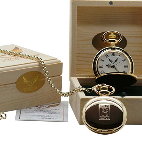 rouleaux royce clad tui cadeau en bois de luxe montre de poche or 24 carat certifi spirit. Black Bedroom Furniture Sets. Home Design Ideas