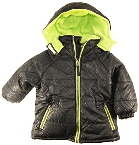 Ixtreme Baby Boys Infant Puffer Hooded Winter Jacket, Black, 18M front-811499