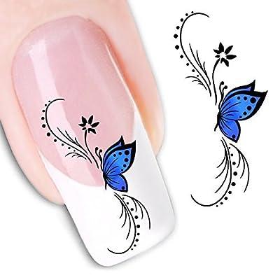 Nail Art Water Butterfly Water Nail Art Decal / Tattoo / Sticker by RayLineDo