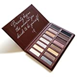 Best Pro Eyeshadow Palette Makeup - Matte + Shimmer 16 Colors - Highly Pigmented - Professional Nudes Warm Natural Bronze Neutral Smoky Cosmetic Eye Shadows - Lamora Au Naturel