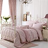 Dorma Pale Pink 'Elizabeth' Bed Linen - Double Duvet Cover