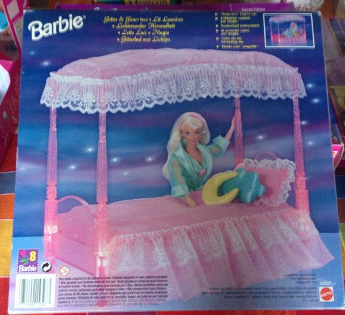 Barbie Glitter & Glow Bed front-1069780
