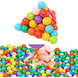 HeroNeo 100pcs 5.5 Centimeter Colorful Ball Fun Ball Soft Plastic Ocean Ball Baby Kid Toy Swim Toy