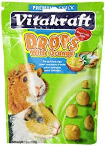 Vitakraft Guinea Pig orange Drops and 5.3-Ounce Pouch