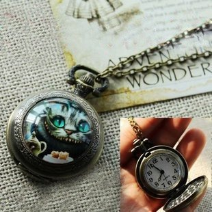 in Wonderland Pocket Watch Necklace - Lenny's Alice in Wonderland shop