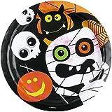 8-teiliges Teller-Set * HALLOWEEN KIDS * für gruselige Mottopartys // Kinder Geburtstag Party Pappteller Partyteller Plates Oktober Spinne Kürbis Skelett