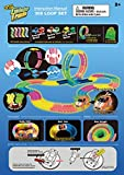 Mindscope Twister Tracks Trax 360 Loop 15 (feet) of Neon Glow in the Dark Track with Two Light-Up (Pulse LED) Vehicles City Vehicle Series