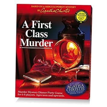 """Paul Lamond - Jeu pour """"Dinner Party"""" Classic Agatha Christie Murder Mystery avec DVD Hercule Poirot - A First Class Murder - Langue: anglais"""