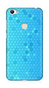 Amez designer printed 3d premium high quality back case cover for Vivo X6 (Pattern Blue Honeycomb)