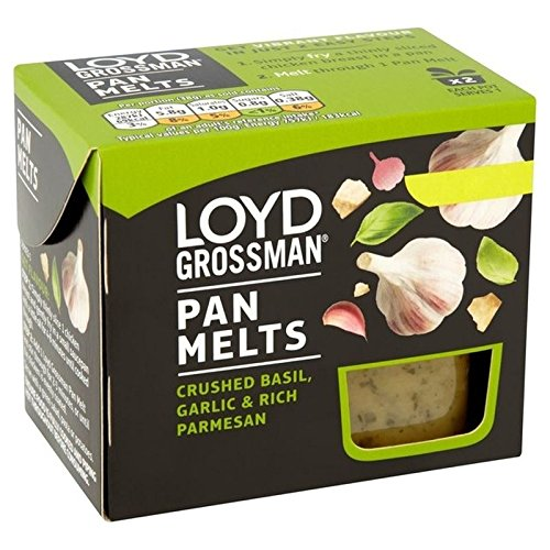 Loyd Grossman L'Ail, Le Basilic Et Parmesan Pan Fondus 2 X 38G
