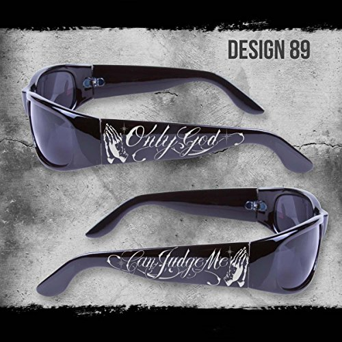 ONLY GOD CAN JUDGE ME SHADES BLACK SUNGLASSES CHOPPERS CITY LOCS NWT CHICANO RAP (Chicano Locs compare prices)