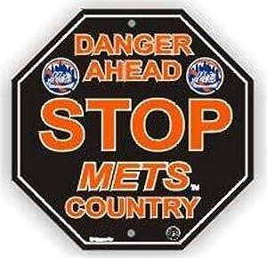 """Stop Sign - MLB Baseball - New York Mets """"Danger Ahead"""""""