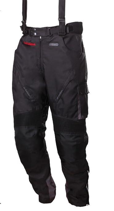 Modeka cARTAGENA pantalon en tissu noir