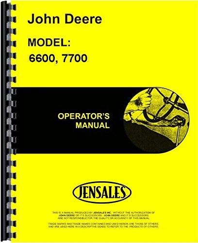 John Deere 6600 7700 (Sidehill 6600 7700)Combine Operators Manual (JD-O-OMH100537)
