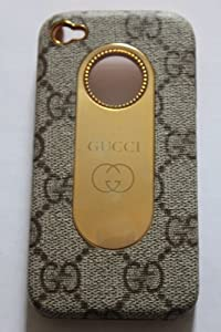 Gc Design Style Iphone 4 Case with Syntactic Leather on Top . Fit 4g/4s + Free 3 Layer Anti - Glare Screen Protector