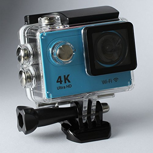 Annpadar@ 4K Ultra HD Sports Camera with WIFI wireless 2Inch LCD 12MP 170 Degree Wide Angle+ Micro Hdmi 30m Waterproof Sports Outdoor Diving Car Recorder Helmet Include Accessories (Blue)