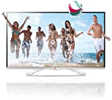 LG 47LA6678 119 cm (47 Zoll) Cinema 3D LED-Backlight-Fernseher, EEK A+ (Full HD, 400Hz MCI, WLAN, DVB-T/C/S, Smart TV) weiß
