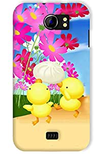 IndiaRangDe Hard Back Cover FOR Micromax A110 Canvas 2
