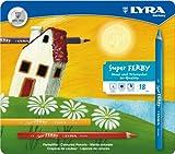 Lyra 3721180 - Super Ferby Farbstift lackiert, Metalletui 18 sortierte Farben hergestellt von Lyra