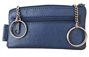 Sattler + Co. Schlüsseletui, 105110 007, Damen und Herren Schlüsseletui, Leder, blau