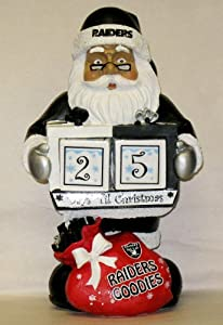 NFL Oakland Raiders Santa Countdown Calendar by Forever Collectibles
