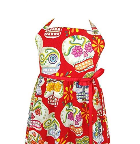 Kid'S Hemet Sugar Skull Dress Red 2T