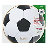 ミドリ カラー色紙 丸形 サッカーボール柄 33196006