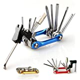 JZ Color Multi-function Folding Bike Tool Bicycle Repair Tools with Allen Wrench / Chain Splitting Tool / Screwdriver