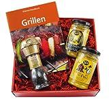 Geschenk Set BBQ Pfeffermühle und Senf