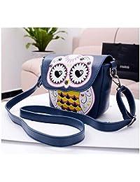 Women Leather Handbag (blue)