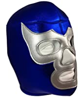 BLUE DEMON Adult Lucha Libre Wrestling Mask (pro-fit) Costume Wear - Blue