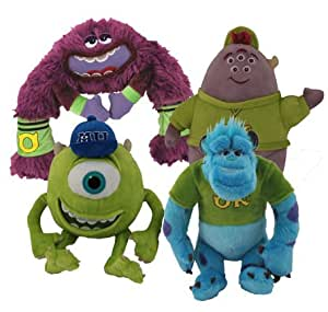Monsters University Squishy Stuffed Animal : Amazon.com: Monsters University 4 Piece Plush Set - Includes - Sulley, Mike, Squishy, and Art ...