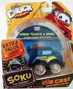 Amazon.com: Tonka Chuck and Friends Soku the Cruiser Diecast with Dvd