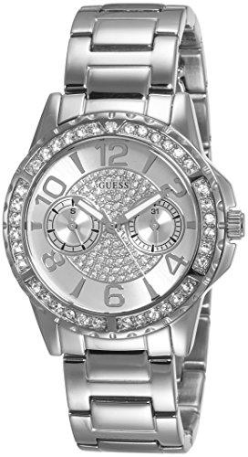 Guess  W0705L1 - Reloj de lujo para mujer, color plateado