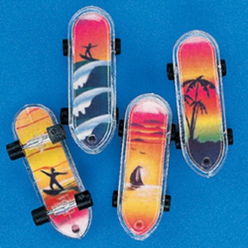 Lot of 36 Tropical Mini Skateboards Party Favors 2""