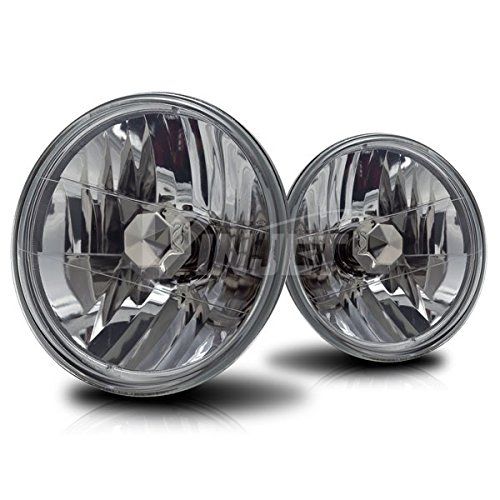 Starr Lite 7' Round Conversion Head Lights With Light Bulb - (Clear)