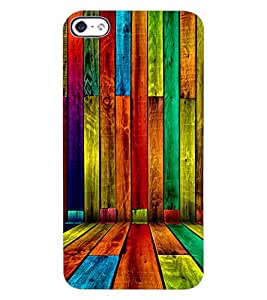 ColourCraft Colouful Bars Design Back Case Cover for APPLE IPHONE 4S