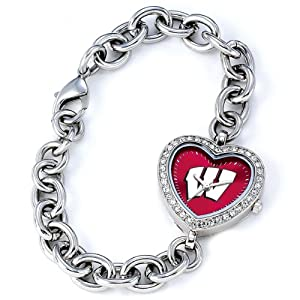 NCAA Ladies CH-WIS Heart Series Wisconsin Badgers Watch by Game Time