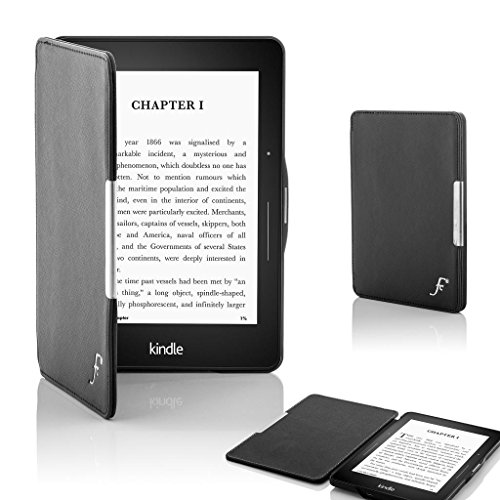 forefront-cases-leather-shell-case-cover-for-amazon-kindle-voyage-2014-metal-black