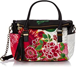 Desigual Bols Liberty Floreada Carry, Sac bandoulière - Multicolore (3001 Fresa), Taille Unique