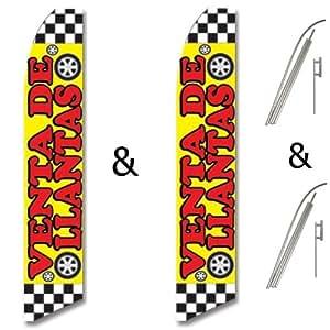 & Pole Kits Yellow Red Check VENTA DE LLANTAS: Patio, Lawn & Garden