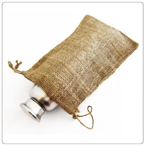 "New Burlap Favor Gift Bags With Drawstring 8 X 12 - Pack Of 10 Bags ($1.24 Each)"" front-64436"