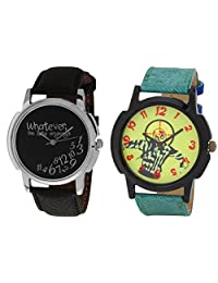 Relish Black Analog Round Casual Wear Watches For Men - B019T7LBLQ