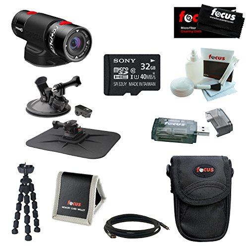 Replay Xd Prime X 1080P Wifi Action Camera With Action Pro Series All In 1 Car Kit And 32Gb Deluxe Accessory Kit
