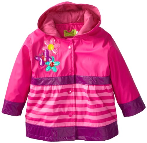 Western Chief Little Girls' Blossom Cutie Rain Coat, Pink, 4T front-1019454
